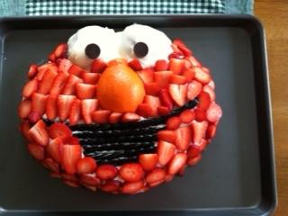 AllNatural Elmo Cake